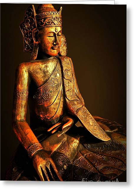 Meditation Greeting Card by Charuhas Images
