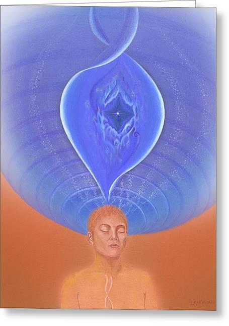 Meditation On Full Health Greeting Card by Robin Aisha Landsong
