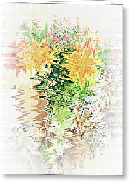 Meditation Pond Greeting Card by Ann Johndro-Collins