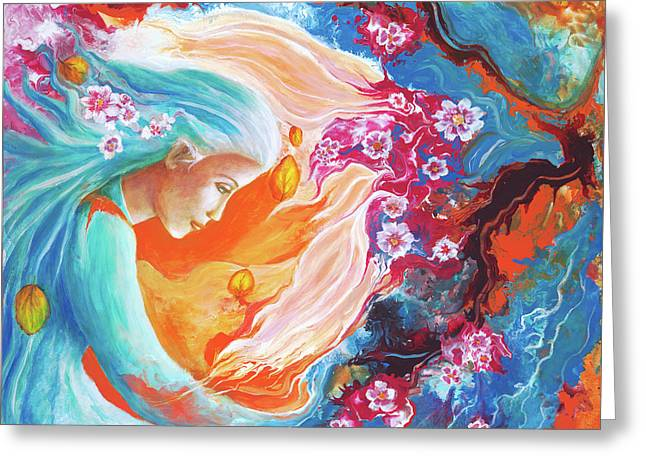 Meditation Greeting Card by Valerie Graniou-Cook
