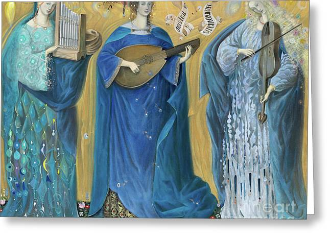 Meditations On The Holy Trinity  After The Music Of Olivier Messiaen, Greeting Card by Annael Anelia Pavlova