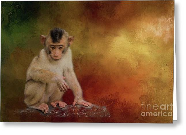 Meditative Greeting Card by Eva Lechner