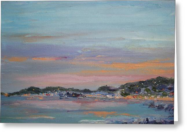 Mediterranean At Dusk Nice France Greeting Card by Bryan Alexander