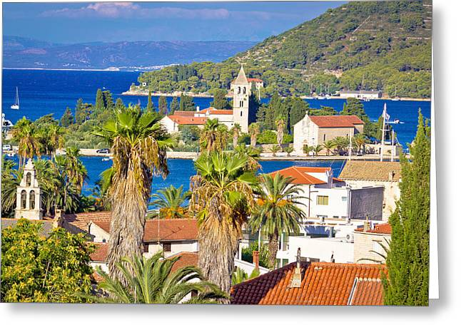 Mediterranean Destiation Of Vis Island Nature And Architecture Greeting Card by Brch Photography