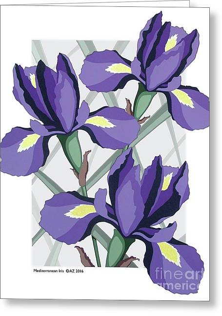 Mediterranean Iris Greeting Card