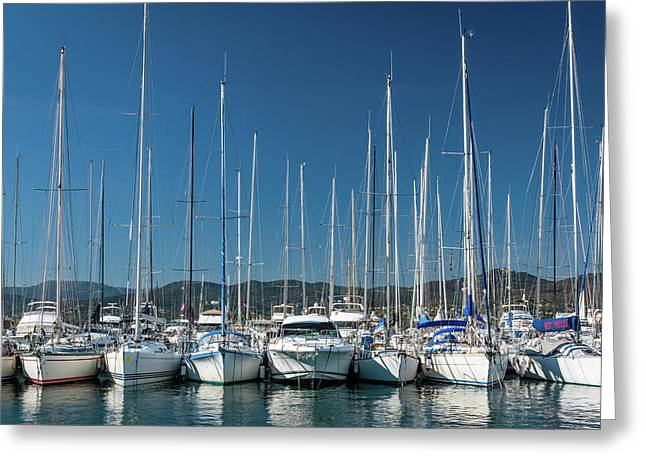 Mediterranean Marina Greeting Card