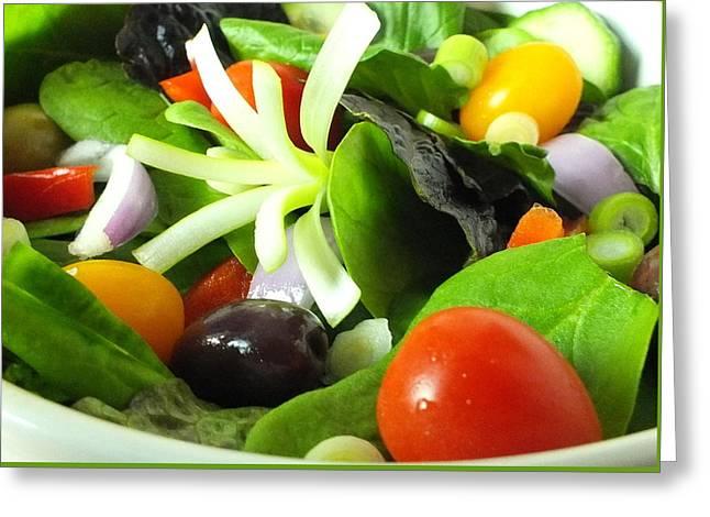 Mediterranean Salad Greeting Card