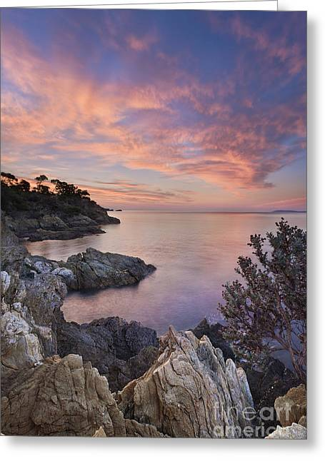 Mediterranean Sunrise Greeting Card by Rod McLean