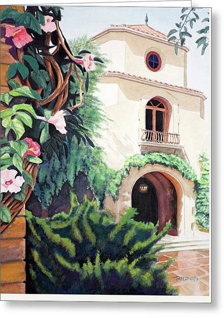 Mediterranean Villa Greeting Card