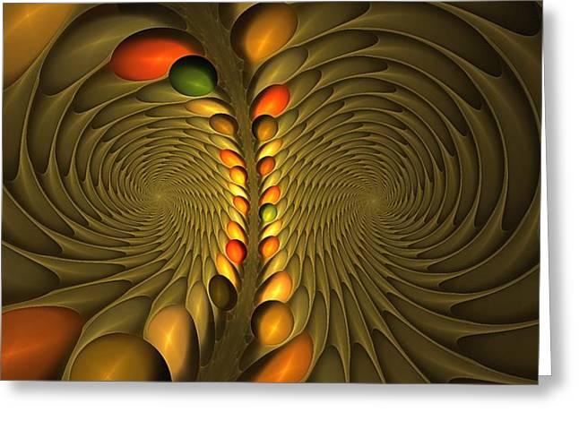 Meditirina Seed Pod Greeting Card