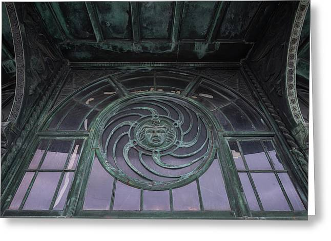 Medusa Window Carousel House Asbury Park Nj Greeting Card by Terry DeLuco