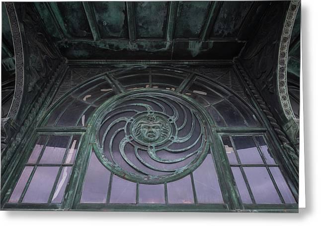 Medusa Window Carousel House Asbury Park Nj Greeting Card