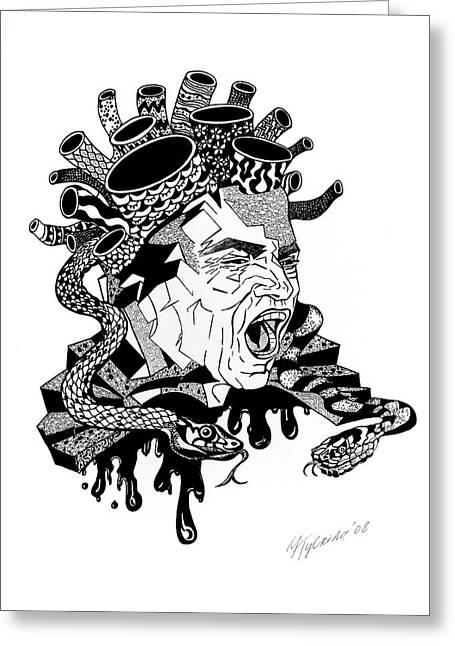 Medusa Greeting Card by Yelena Tylkina