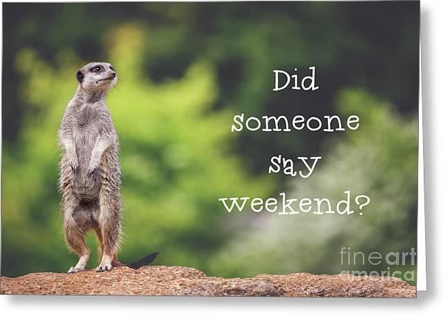 Meerkat Asking If It's The Weekend Yet Greeting Card