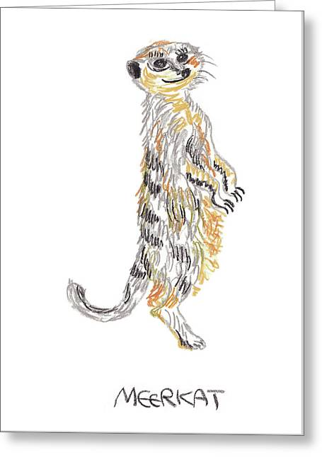 Meerkat Greeting Card by Purrfect Rainbow