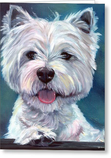 Meet And Greet - West Highland Terrier Greeting Card