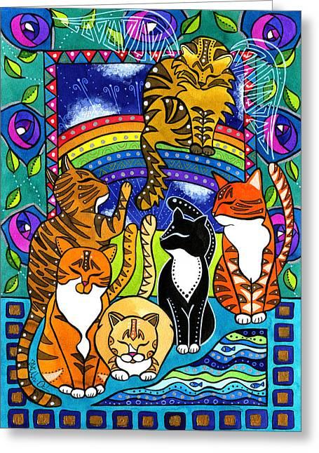 Meet Me At The Rainbow Bridge - Cat Painting Greeting Card