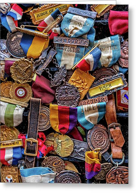 Greeting Card featuring the photograph Meet Medals by Christopher Holmes