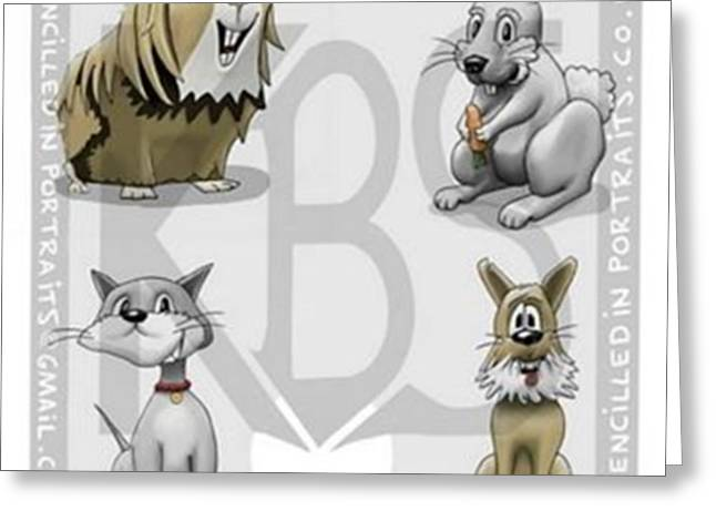 Meet The Critters!..4 Of My Creations Greeting Card