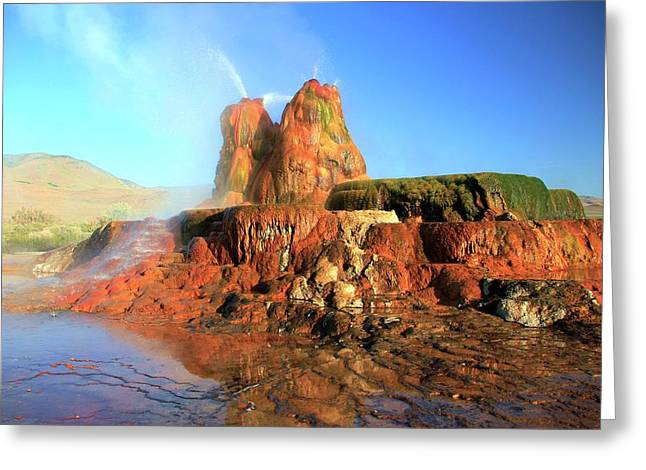 Greeting Card featuring the photograph Meet The Fly Geyser by Sean Sarsfield