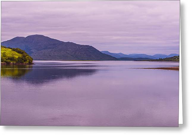 Greeting Card featuring the photograph Meeting Of The Lochs  by Steven Ainsworth