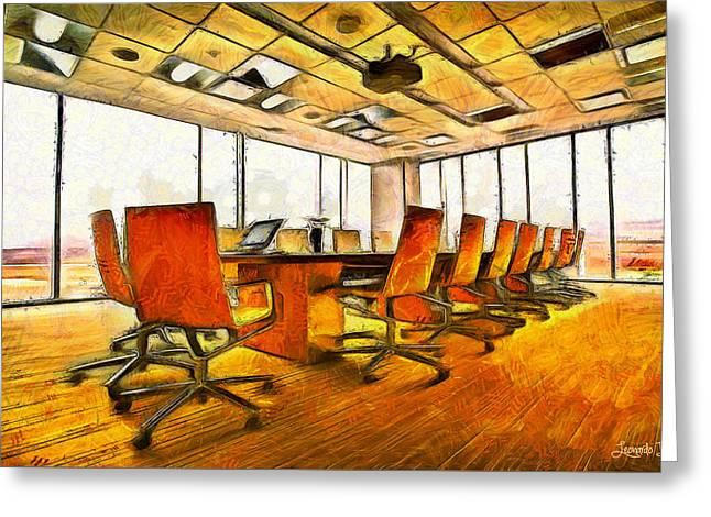 Meeting Room - Da Greeting Card by Leonardo Digenio