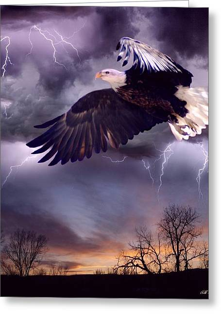 Meeting The Storm Greeting Card by Bill Stephens