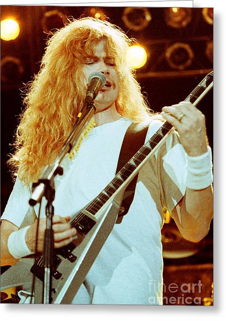 Megadeath 93-dave-0363 Greeting Card by Timothy Bischoff