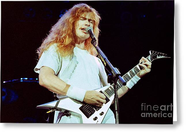 Megadeath 93-dave-0381 Greeting Card by Timothy Bischoff
