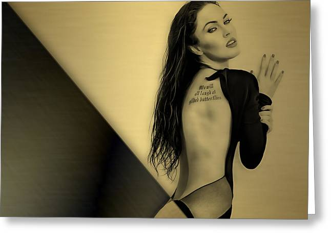 Megan Fox Collection Greeting Card by Marvin Blaine
