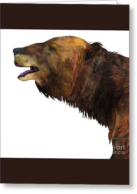 Megatherium Sloth Head Greeting Card