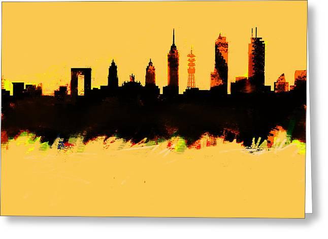 Meixco City Df Skyline Greeting Card