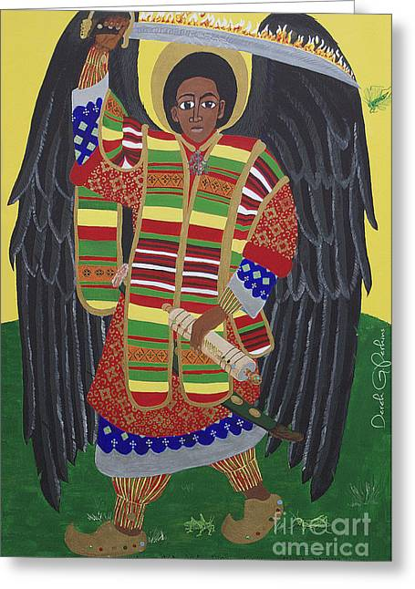 Mekelle the protector painting by derek perkins mekelle the protector greeting card by derek perkins m4hsunfo