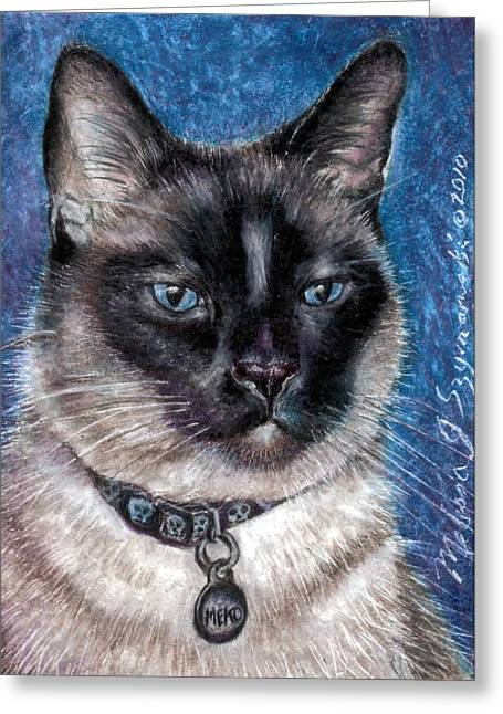 Meko Greeting Card by Melissa J Szymanski