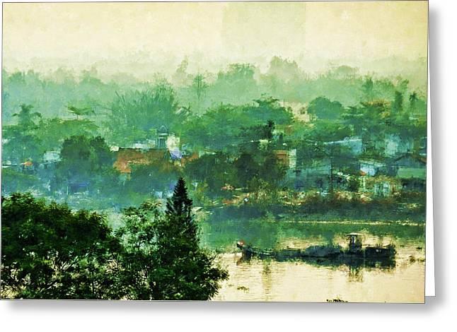 Mekong Morning Greeting Card