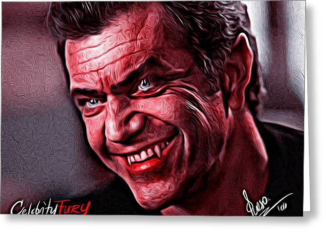 Mel Gibson Greeting Card by Gene Spino