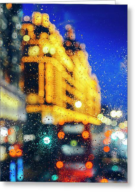 Melancholic London Lights  Greeting Card