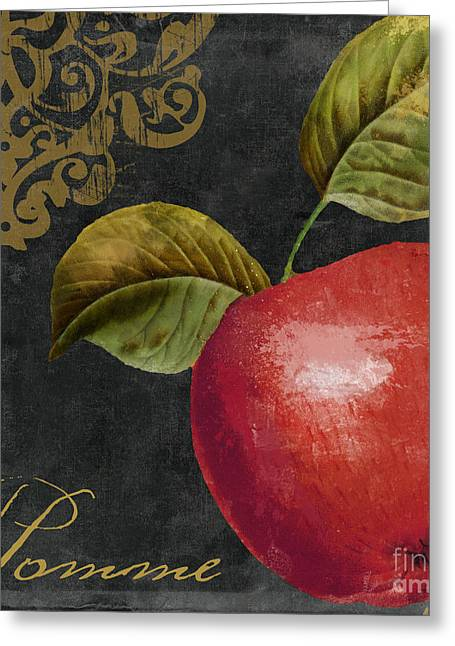 Melange Apple Pomme Greeting Card by Mindy Sommers