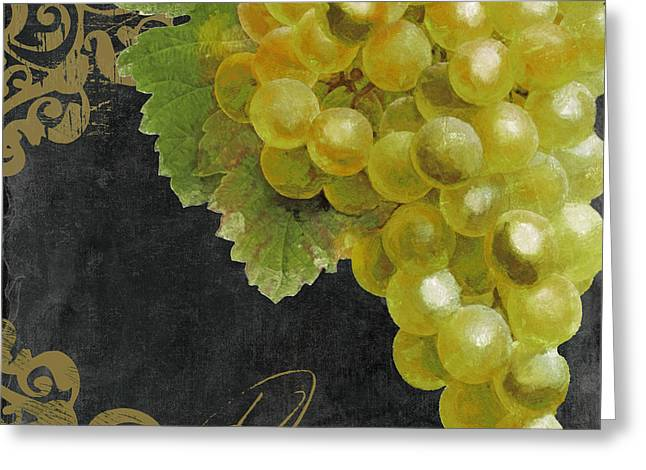 Melange Green Grapes Greeting Card by Mindy Sommers