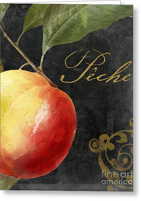 Melange Peach Peche Greeting Card by Mindy Sommers