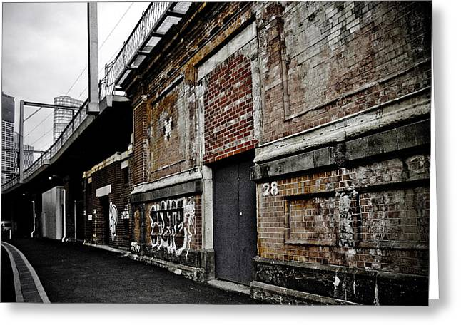 Melbourne Alley Greeting Card by Kelly Jade King