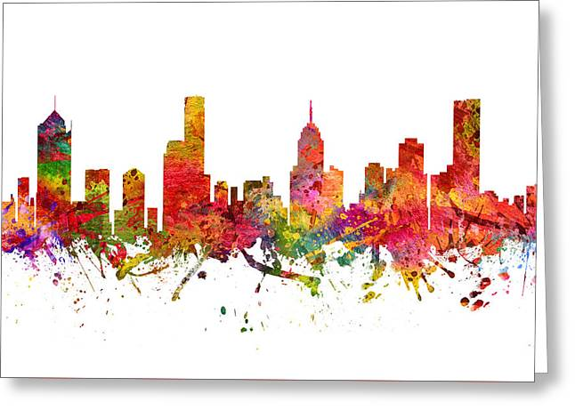 Melbourne Australia Cityscape 08 Greeting Card by Aged Pixel