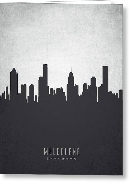 Melbourne Australia Cityscape 19 Greeting Card by Aged Pixel