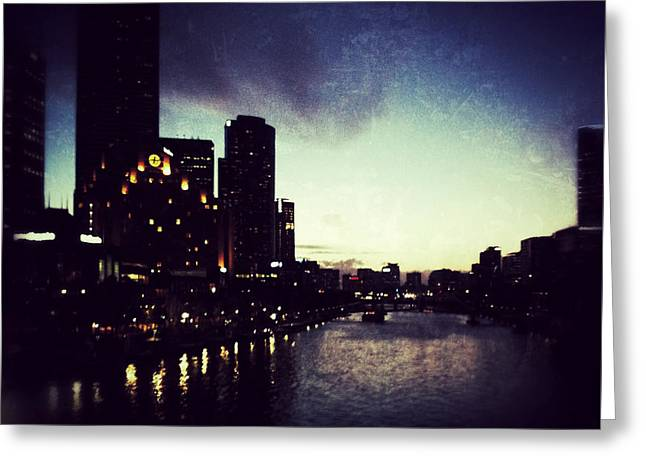 Melbourne Australia Greeting Card by Sarah Coppola