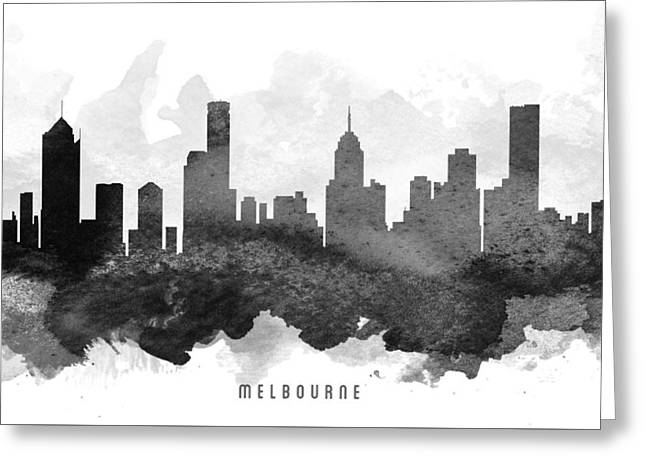 Melbourne Cityscape 11 Greeting Card by Aged Pixel