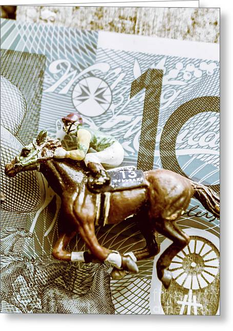 Melbourne Cup Wager Greeting Card