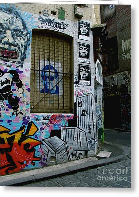 Greeting Card featuring the photograph Melbourne Graffiti I by Louise Fahy
