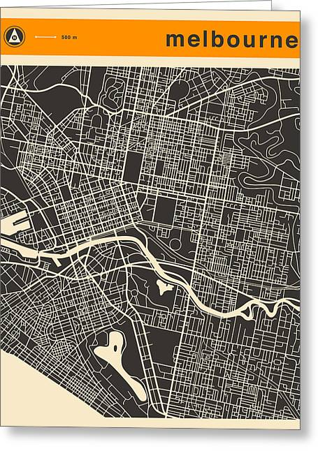 Melbourne Map Greeting Card