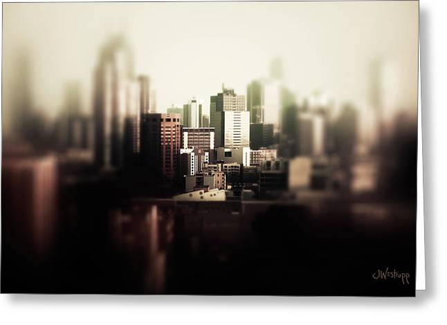Melbourne Towers Greeting Card by Joseph Westrupp