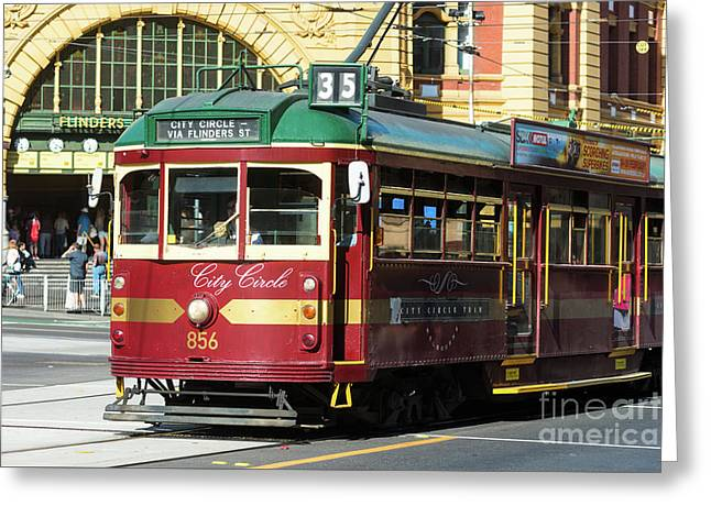 Melbourne Tram Greeting Card by Andrew Michael